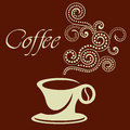 Coffee cup sign Royalty Free Stock Image