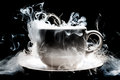 A coffee cup smoke abstract art Stock Image