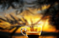 Coffee cup of steaming in the morning Stock Photos