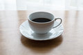 Coffee, cup, table, white, black,  espresso, drink, breakfast, morning, aroma, mu Royalty Free Stock Photo