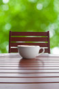 Coffee cup on table wood Royalty Free Stock Photo
