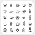 Coffee cup and Tea cup icons set Royalty Free Stock Photo