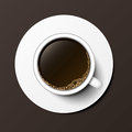 Coffee cup top view vector illustration. Royalty Free Stock Photo