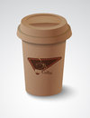 Coffee cup vector illustration background Stock Photography