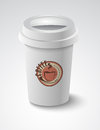 Coffee cup vector illustration background Royalty Free Stock Photography