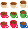 Coffee cup vector illustration of the cups Royalty Free Stock Photography