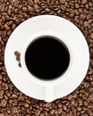 Coffee cup view from top Royalty Free Stock Images