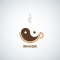 Coffee cup yin yang background eps Stock Photography