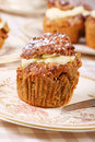 Coffee cupcake Stock Images