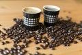 Coffee cups 库存照片