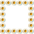 Coffee cups frame Royalty Free Stock Photo