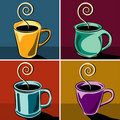 Coffee cups illustrations Royalty Free Stock Photos