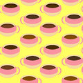 Coffee Cups Seamless Pattern Royalty Free Stock Image