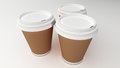 Coffee cups on white background Royalty Free Stock Image