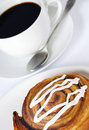 Coffee and danish pastry Stock Photography