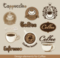 Coffee design element set of elements on the theme Stock Photos