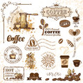 Coffee design elements set of Stock Photography