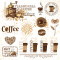 Coffee design elements set of Stock Images
