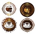Coffee design elements. vector illustration Stock Image