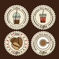 Coffee design over background vector illustration Royalty Free Stock Photos