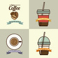 Coffee design over beige background vector illustration Stock Photography