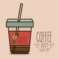 Coffee design over beige background vector illustration Royalty Free Stock Images