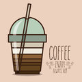Coffee design over beige background vector illustration Royalty Free Stock Photos