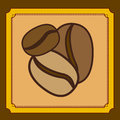 Coffee design over brown background vector illustration Royalty Free Stock Image