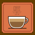 Coffee design over brown background vector illustration Royalty Free Stock Images