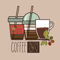 Coffee design over brown background vector illustration Stock Photos
