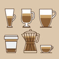 Coffee design over brown background vector illustration Royalty Free Stock Photography