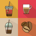 Coffee design over colorful background vector illustration Stock Image