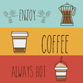Coffee design over colorful background vector illustration Royalty Free Stock Images
