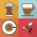 Coffee design over colorful background vector illustration Stock Photos
