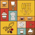 Coffee design over colorful background vector illustration Royalty Free Stock Image