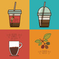 Coffee design over colorful background vector illustration Royalty Free Stock Photo