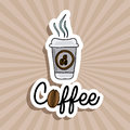 Coffee design over grunge background vector illustration Stock Images