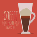 Coffee design over red background vector illustration Royalty Free Stock Images