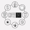 Coffee design over white background vector illustration Royalty Free Stock Image