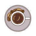 Coffee design over white background vector illustration Stock Image