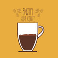 Coffee design over yellow background vector illustration Stock Photography