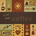 Coffee design set vector illustration eps Royalty Free Stock Photography