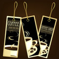 Coffee design tags Royalty Free Stock Photo