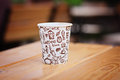 Coffee in disposable cup Royalty Free Stock Photos