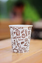 Coffee in disposable cup Royalty Free Stock Images