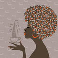 Coffee dreams - afro-american women Royalty Free Stock Photo