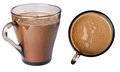 Coffee drink glass cup closeup food cafe beverage black hot caffeine aroma brown delicious breakfast dark kitchen color stimulant Stock Image