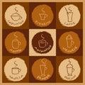 Coffee drinks Royalty Free Stock Photo