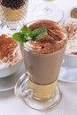 Coffee drinks eggnog latte and other Royalty Free Stock Image