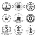 Coffee Emblem Set Royalty Free Stock Photo